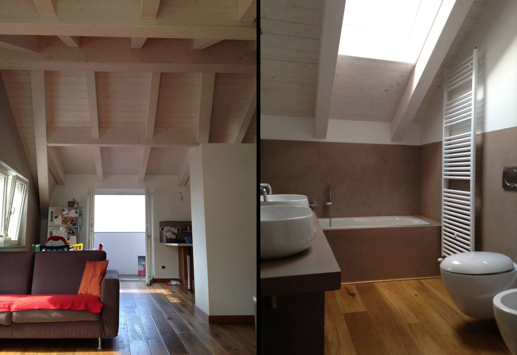 Architetto Andrea Milano -Trasformazione con ampliamento e recupero di sottotetto