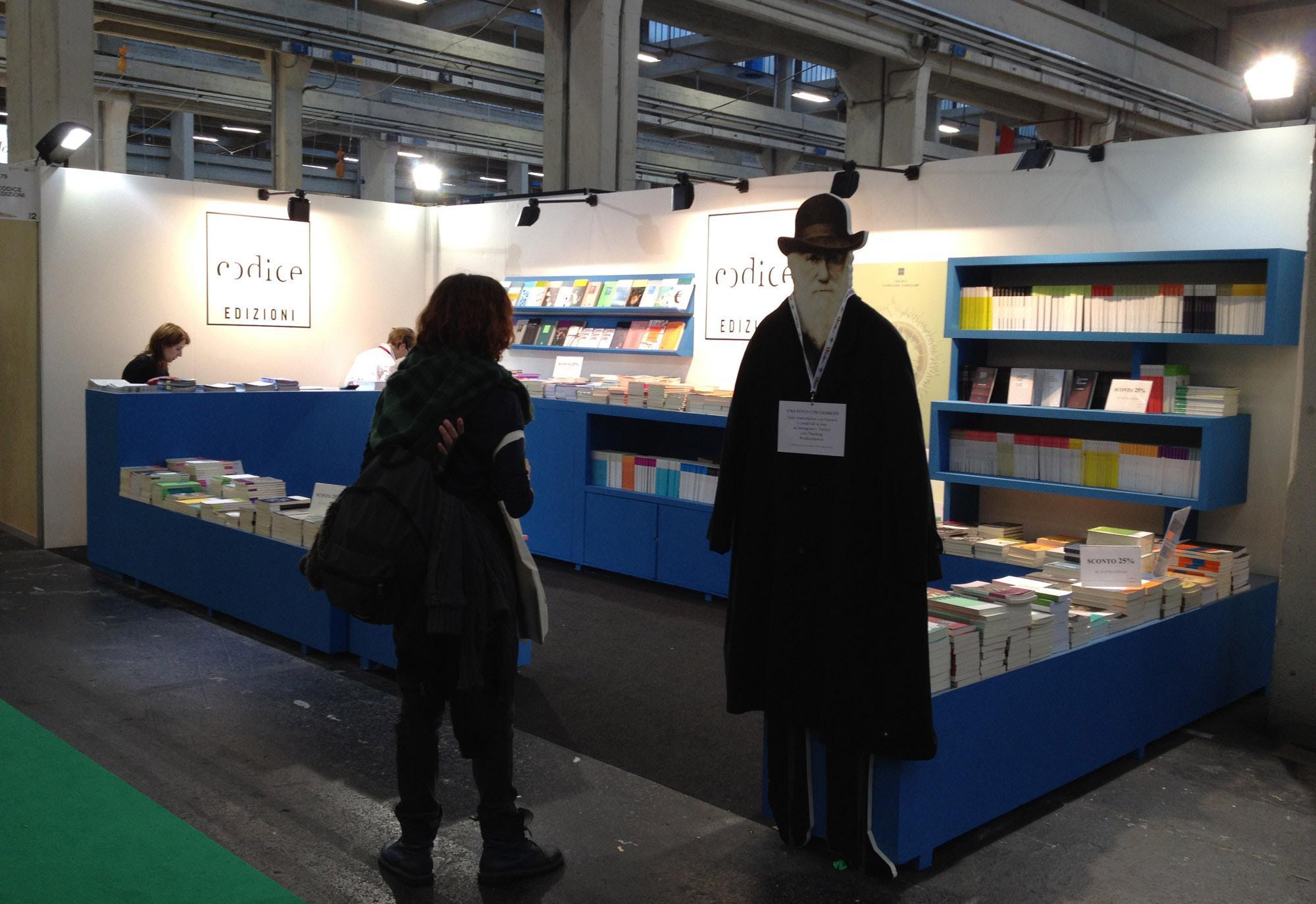 Architetto Andrea Milano -Allestimento Stand CODICE per il Salone Internazionale del Libro