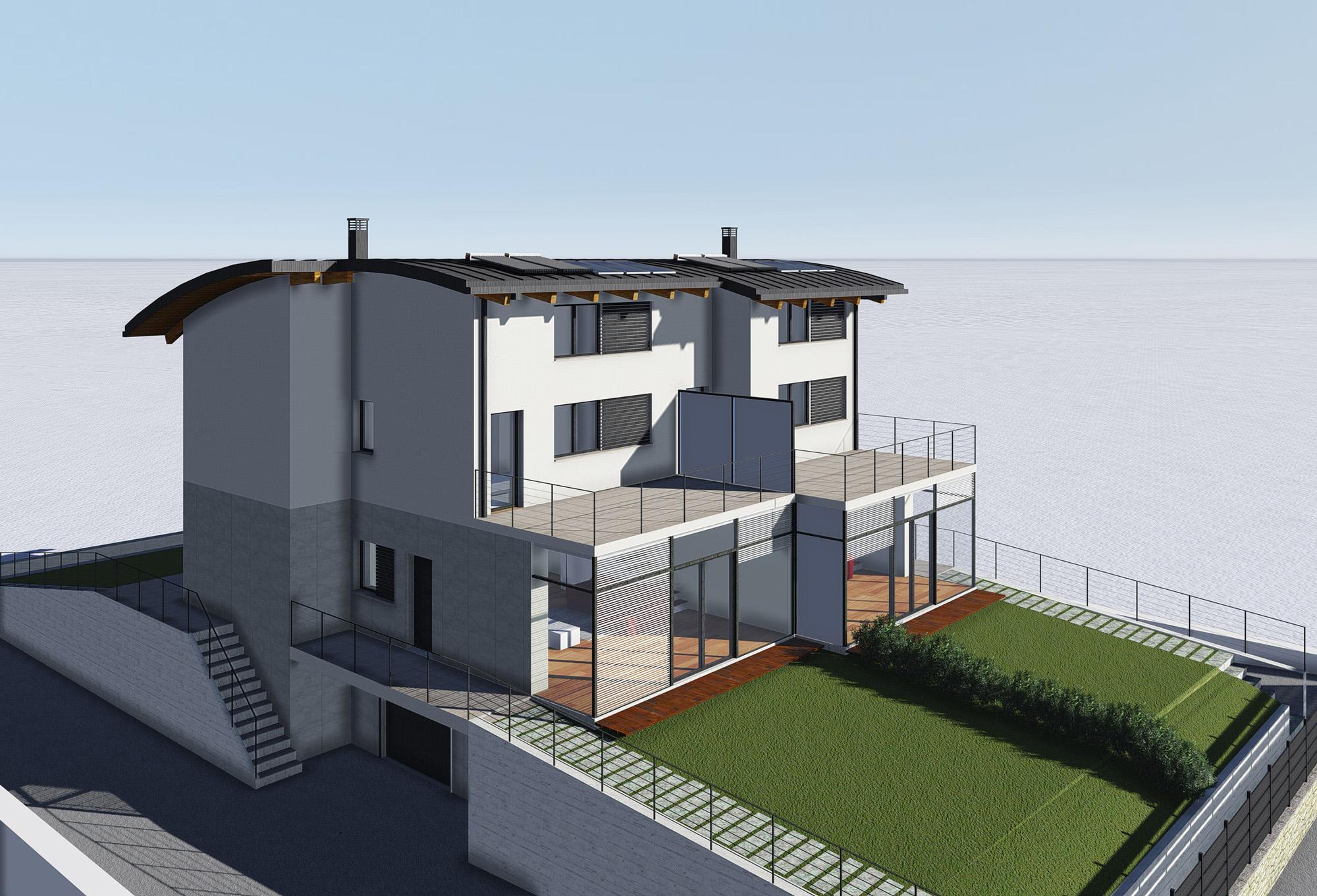 Architetto Andrea Milano -Villa bifamiliare su 4 livelli