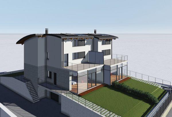 Architetto Andrea Milano - Villa bifamiliare su 4 livelli in vendita, Pianezza