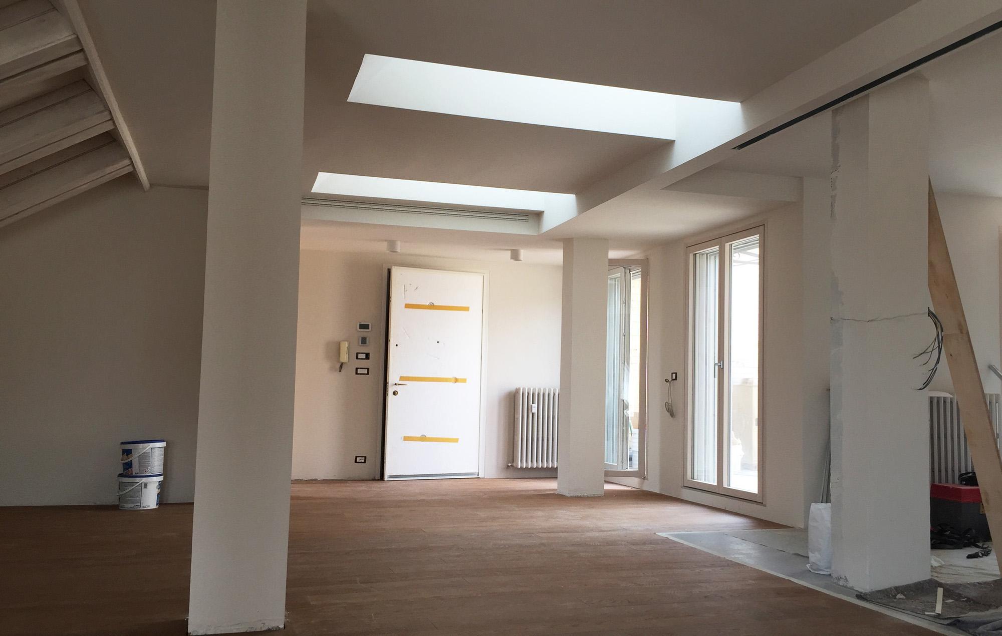 Architetto Andrea Milano -Ristrutturazione di Attico nel centro storico